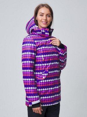 Женская зимняя горнолыжная куртка темно-фиолетового цвета