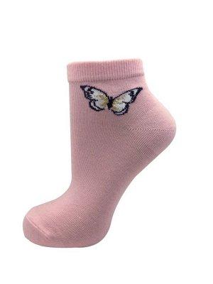 """Носки женские средней длины CINEMA арт.14ЛС """"бабочка"""" светло-розовый"""