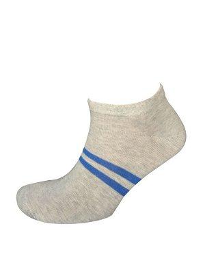 Носки муж. Comandor арт. 013-2 полосы серый-меланж/синий,