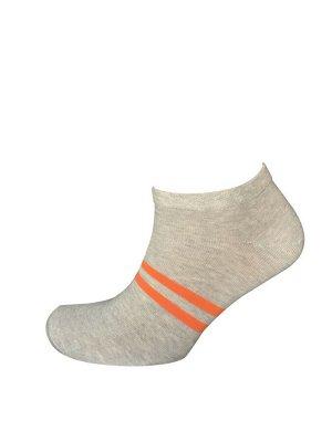 Носки муж. Comandor арт. 013-2 полосы серый-меланж/оранжевый,