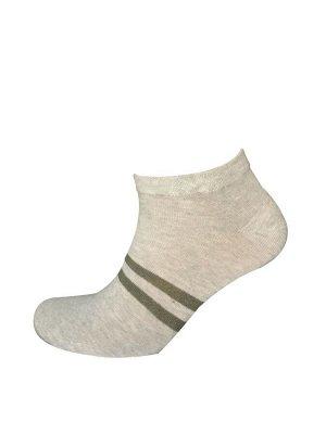 Носки муж. Comandor арт. 013-2 полосы серый-меланж/зеленый,