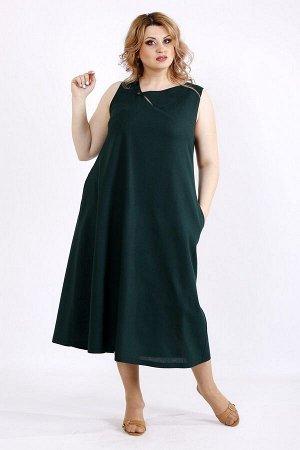 Сарафан 1131-3 темно-зеленый