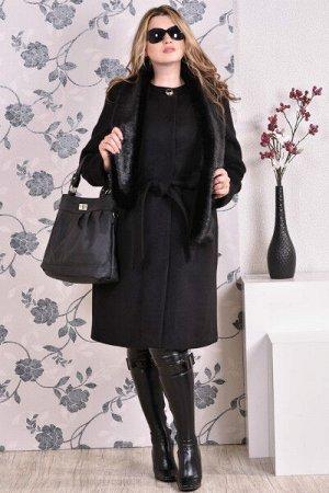 Пальто 0153 черный кашемир (разные версии)