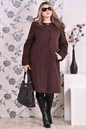 Пальто 0153 коричневый кашемир (разные версии)