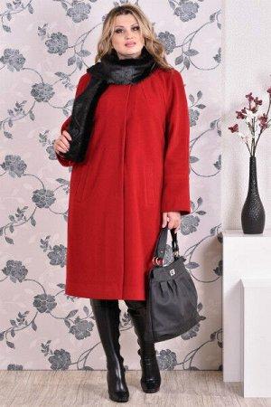 Пальто 0151 красный кашемир (разные версии)
