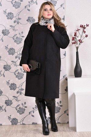 Пальто 0169 черный кашемир (разные версии)