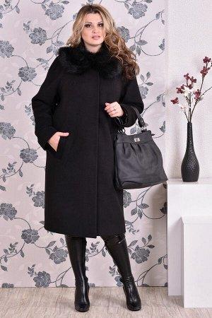 Пальто 0151 черный кашемир (разные версии)