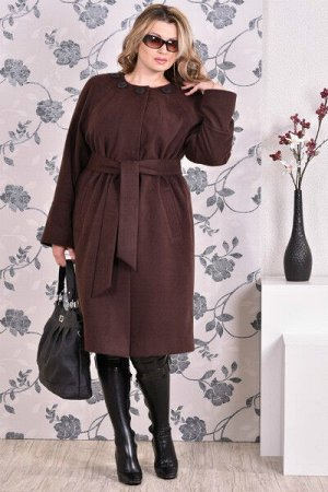 Пальто 0151 коричневый кашемир (разные версии)