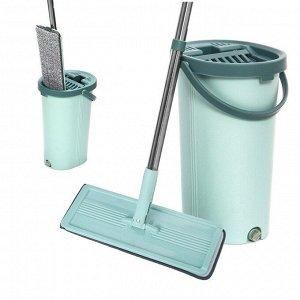 Комплект для уборки (ведро + швабра + 2 насадки)