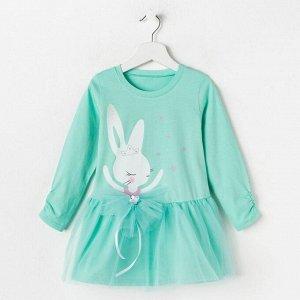 Платье для девочки, цвет мятный, рост 110 см
