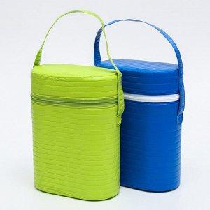 Термосумка - контейнер для классических бутылок (пластик), цвет МИКС