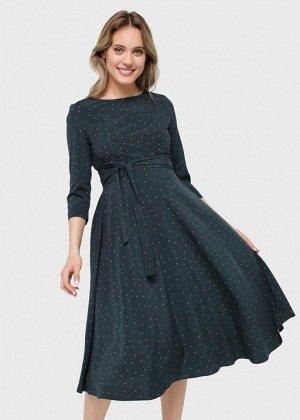 """Платье """"Ариэль"""" для беременных и кормящих; изумруд"""