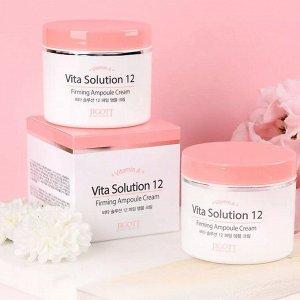 """280689 """"Jigott"""" Vita Solution 12 Firming Ampoule Cream Ампульный омолаживающий крем для лица  100 мл 1/100"""