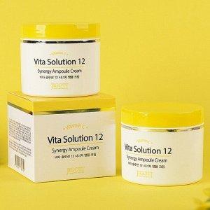 "280719 ""Jigott"" Vita Solution 12 Synergy Ampoule Cream Ампульный энергетический крем для лица  100 мл 1/100"