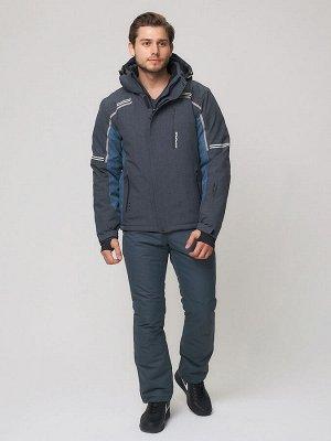 Мужской зимний костюм горнолыжный темно-серого цвета 01971TC