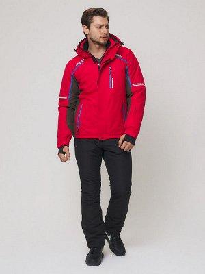 Мужской зимний горнолыжный костюм MTFORCE красного цвета 01971Kr