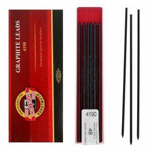 Грифели для цанговых карандашей 2.0 мм, Koh-I-Noor, 4190 4В, 12 штук, в футляре