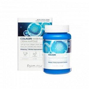 Ампульный крем с коллагеном Collagen water full moist cream ampoule