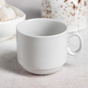 Чашка кофейная Добрушский фарфоровый завод «Мокко», 100 мл, цвет белый