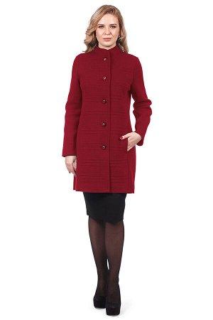 Пальто 4109 К (без подкладки) Темно-красный