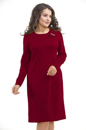 Платье вязаное 3847 К  Вишневый ликер