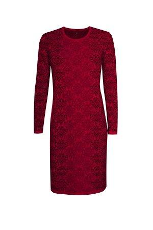Платье вязаное 4175 К  Вишневый черный