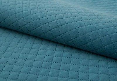Обивка 41💎Мебельные ткани; Кожзам / Интерьер / Наполнитель — Мебельная ткань TRINITI Romb Azure (Микровелюр) — Авточехлы