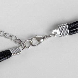 """Кулон на шнурке """"Врата"""" прямоугольники, цвет серый в серебре, 45см"""