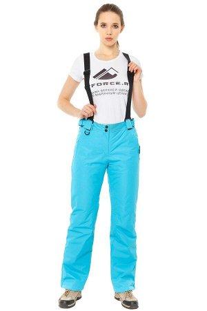Женские зимние горнолыжные брюки голубого цвета 818Gl