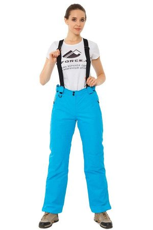 Женские зимние горнолыжные брюки синего цвета 818S