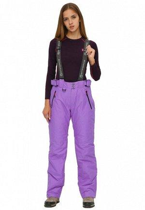 Женские зимние горнолыжные брюки фиолетового цвета 906F