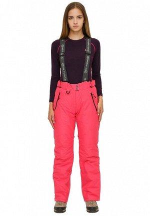 Женские зимние горнолыжные брюки розового цвета 906R