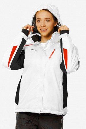 Куртка горнолыжная женскаябелого цвета 1765Bl
