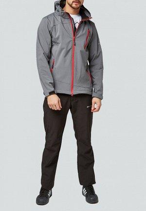 Мужской осенний весенний костюм спортивный softshell серого цвета 01942Sr