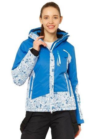 Женская зимняя горнолыжная куртка синего цвета 17122S