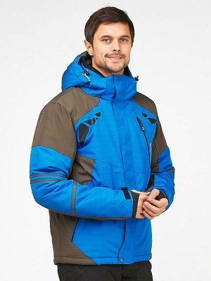 Мужская зимняя горнолыжная куртка голубого цвета 1972Gl