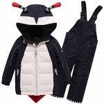 Горнолыжный костюм детский Valianly черного цвета 9001Ch