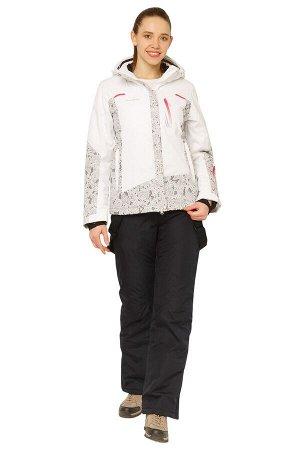 Женский зимний костюм горнолыжный белого цвета 017122Bl