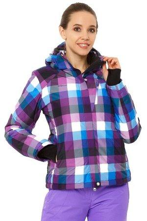 Женская зимняя горнолыжная куртка фиолетового цвета 1807F