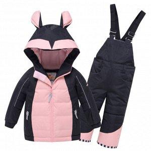 Горнолыжный костюм детский Valianly черного цвета 9002Ch