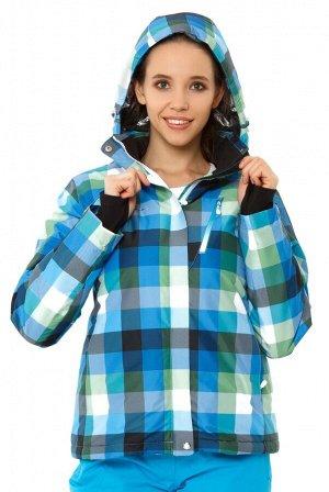 Женская зимняя горнолыжная куртка голубого цвета 1807Gl