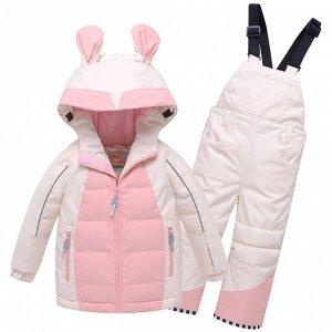 Горнолыжный костюм детский Valianly бежевого цвета 9002B