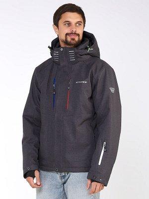Мужская зимняя горнолыжная куртка темно-серого цвета 1947TС