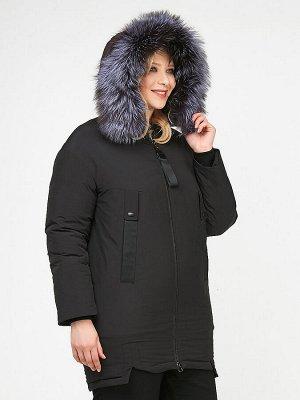 Куртка зимняя женская молодежная черного цвета 88-953_701Ch