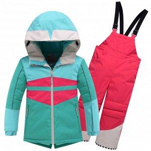 Горнолыжный костюм детский Valianly бирюзового цвета 9006Br