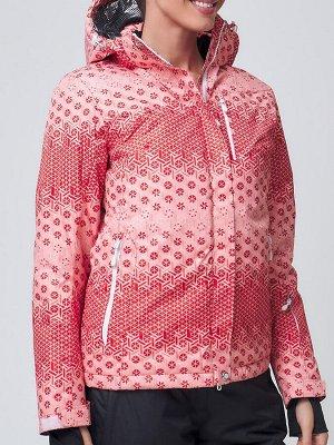 Женская зимняя горнолыжная куртка персикового цвета 1786P