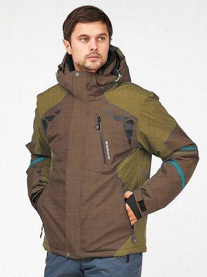 Мужская зимняя горнолыжная куртка цвета хаки 1972-1Kh