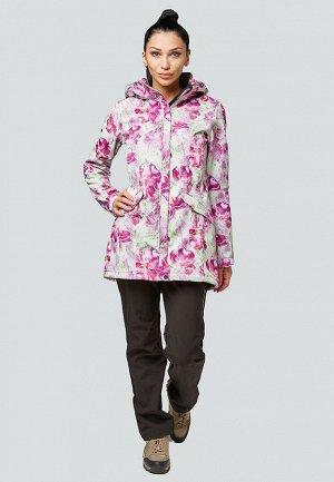 Женский осенний весенний костюм спортивный softshell розового цвета 01922-2R