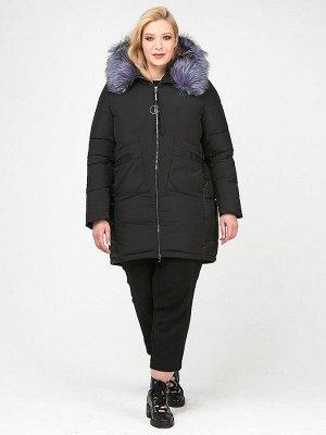 Куртка зимняя женская молодежная черного цвета 92-955_701Ch