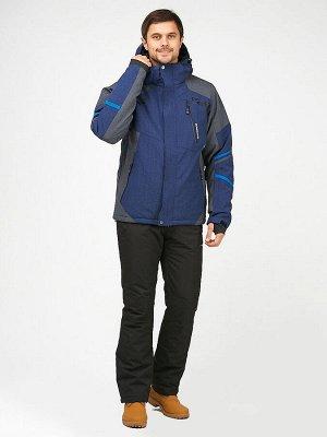 Мужской зимний костюм горнолыжный синего цвета 01972-1S